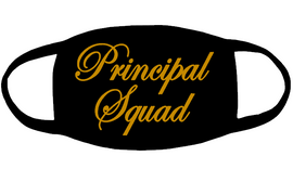 Principal Squad for mask 3x5 - (Gold Glitter) Vinyl Transfer
