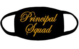 Principal Squad for mask 3x5 - (Gold Glitter) Vinyl Transfer