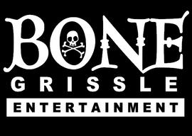 BONE Grissle Entertainment skull - white Vinyl Transfer