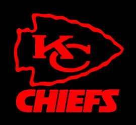 Kansas City KC CHIEFS - custom Vinyl Transfer (RED)