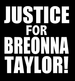 JUSTICE FOR BREONNA TAYLOR! Vinyl Transfer (WHITE)