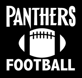 Football Panthers with ball - Vinyl Transfer (WHITE)
