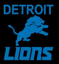 Detroit Lions - Vinyl Transfer (PU M/Blue 191016-2)