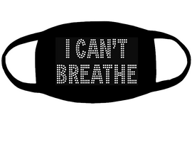 I can't Breathe for mask (3.2x5.6) Rhinestone transfer