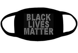 Black Lives Matter for mask (3.9x5.6) Rhinestone transfer