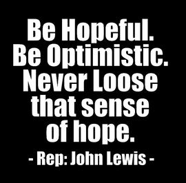 Be Hopeful Be Optimistic - Vinyl Transfer (WHITE)
