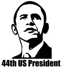 Obama 44th US President - Vinyl Transfer (BLACK)
