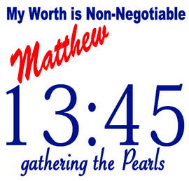 Mathew My Worth is Non-Negotiable fathering the Pearls (no border) Vinyl Transfer