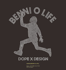 Benni O Life Dope X Design - custom Rhinestone transfer