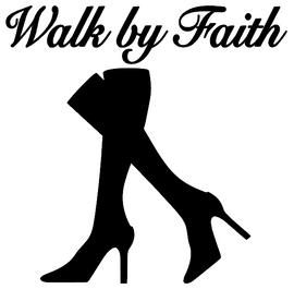 Walk by Faith Legs - Vinyl Transfer (BLACK)