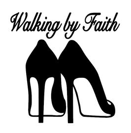 Walking by Faith Heels - Vinyl Transfer (BLACK)