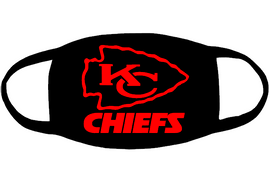 Kansas City KC CHIEFS (for mask) - custom Vinyl Transfer