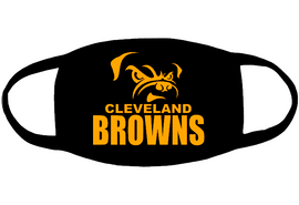 CLEVELAND BROWNS (for mask)- custom Vinyl Transfer