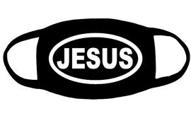 JESUS (for mask) - custom Vinyl Transfer