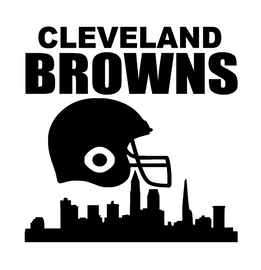 CLEVELAND BROWNS city Helmet - Vinyl Transfer (BLACK)