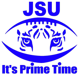 "(9.2 x 9"") JSU Football tiger - Vinyl Transfer (ROYAL BLUE)"