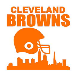 CLEVELAND BROWNS city Helmet - Vinyl Transfer (Orange)