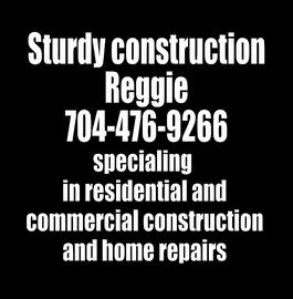 Sturdy Construction Reggie - Vinyl Transfer (WHITE)