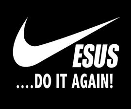 JESUS Do it Again - custom Vinyl Transfer (WHITE)