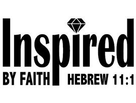 Inspired by Faith - custom Vinyl Transfer (BLACK)