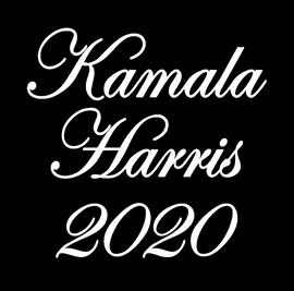 Kamala Harris 2020 - custom Vinyl Transfer (WHITE)