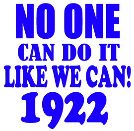 No One can do it Like we can 1922 - Vinyl Transfer (Royal Blue glitter)