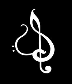 Music note Heart Logo - custom Vinyl Transfer (white)
