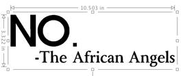 The African Angels (small letter) custom Vinyl Transfer
