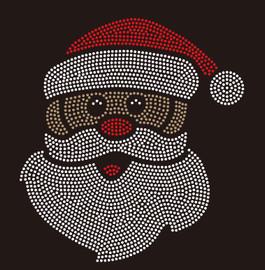 Black Santa - custom rhinestone Transfer