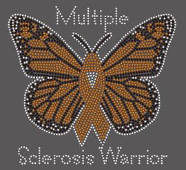 Butterfly Sclerosis Awareness - custom rhinestone Transfer