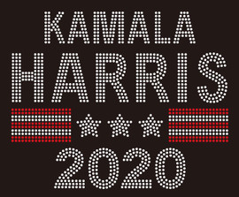 KAMALA HARRIS 2020 - custom rhinestone Transfer