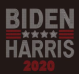 BIDEN HARRIS 2020 - (clear) rhinestone Transfer