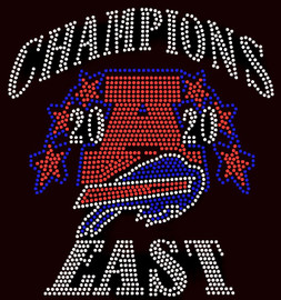 CHAMPIONS East - Bills Bull - custom Rhinestone Transfer