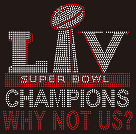 Super Bowl Shield - custom Rhinestone Transfer