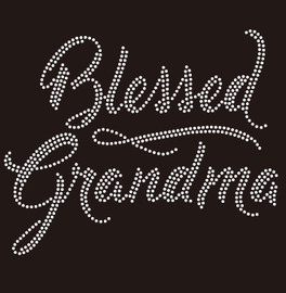 Blessed Grandma - custom Rhinestone Transfer