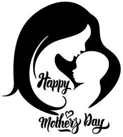 Happy Mother's Day (Mom kissing child) Vinyl Transfer