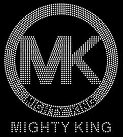 MIGHTY KING MK inside circle custom Rhinestone Transfer