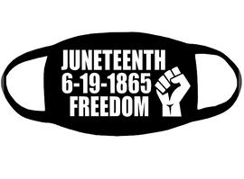 JUNETEENTH 6-19-1865 FREEDOM Fist - Vinyl Transfer