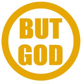 BUT GOD circle - Vinyl Transfer
