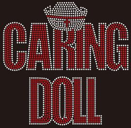 Caring Doll with NURSE Cap custom Rhinestone transfer