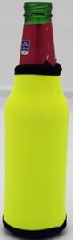 Neon yellow Bottle Koozie Neoprene
