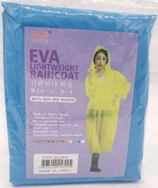 Gown / Rain Coat (Blue) for Water Falls, Beach party, Fishing, Outdoor Hiking, rain protection