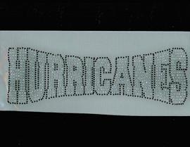 Hurricanes Mascot Rhinestone Transfer Iron On