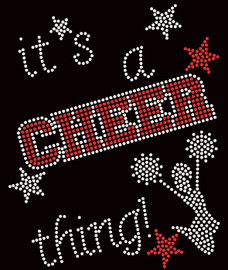 It's a Cheer Thing RED Rhinestone Transfer Iron on