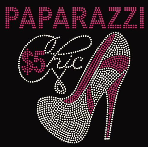 Paparazzi $5 Chic Heel Custom Order Rhinestone transfer