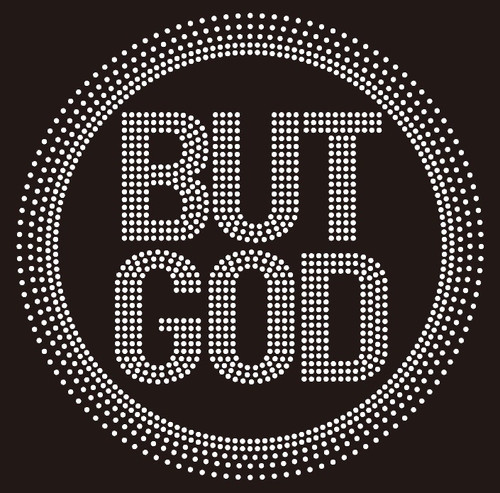But God inside circle (NEW) Religious Rhinestone transfer