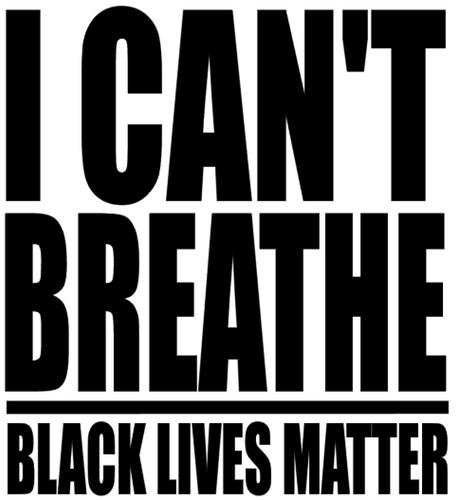 I CAN'T BREATHE - BLACK LIVES MATTER Vinyl Transfer