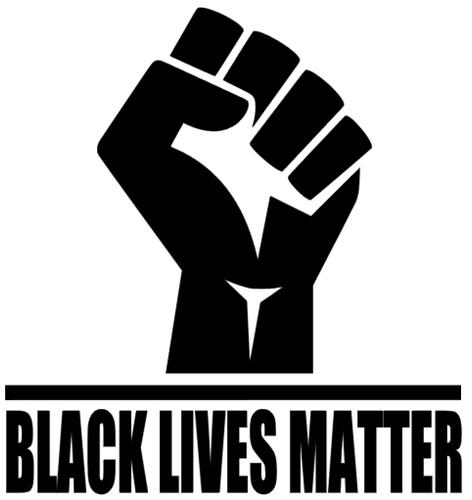 Fist with Black Lives Matter - Vinyl Transfer