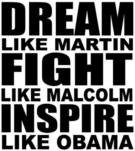 Dream like Martin Fight like Malcolm Inspire like Obama - Vinyl Transfer