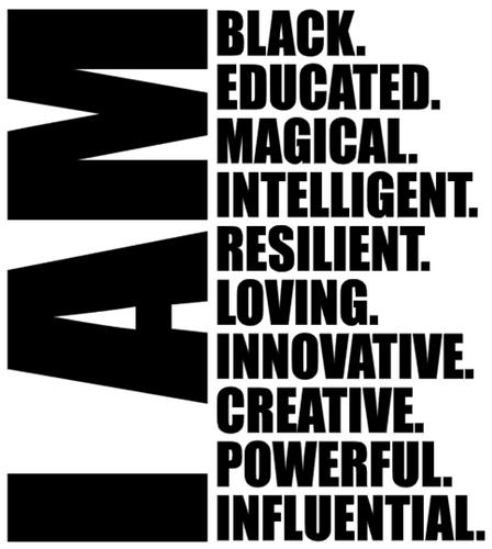 I am Black Educated Magical - Vinyl Transfer